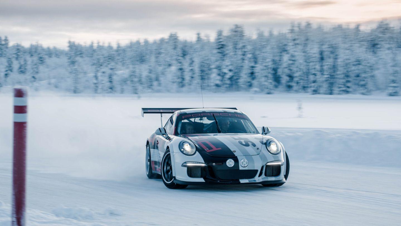 911 GT3 Cup, Porsche Driving Experience Winter, Levi, Finnland, 2016, Porsche AG