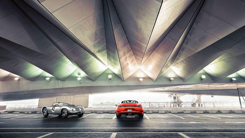718 RS 60 Spyder (l-r), 718 Boxster S, 2017, Porsche AG
