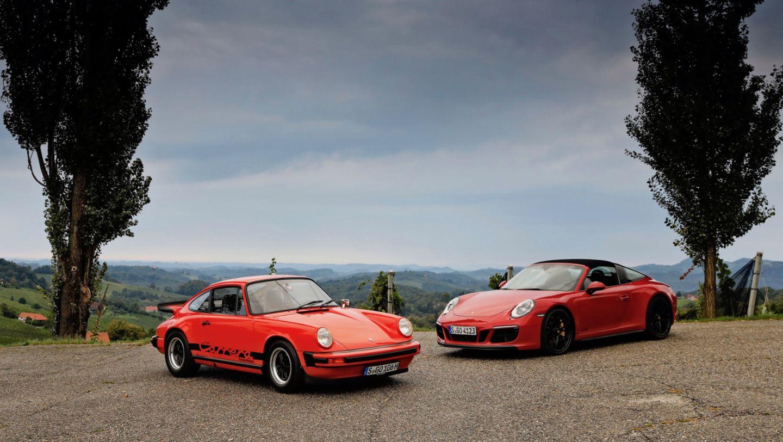 911 Carrera 2.7, 911 Targa 4 GTS, l-r, Steiermark, 2018, Porsche AG