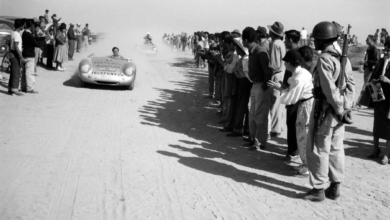 Hans Herrmann, 550/1500 RS Spyder, Carrera Panamericana, Mexiko, 1954, Porsche AG