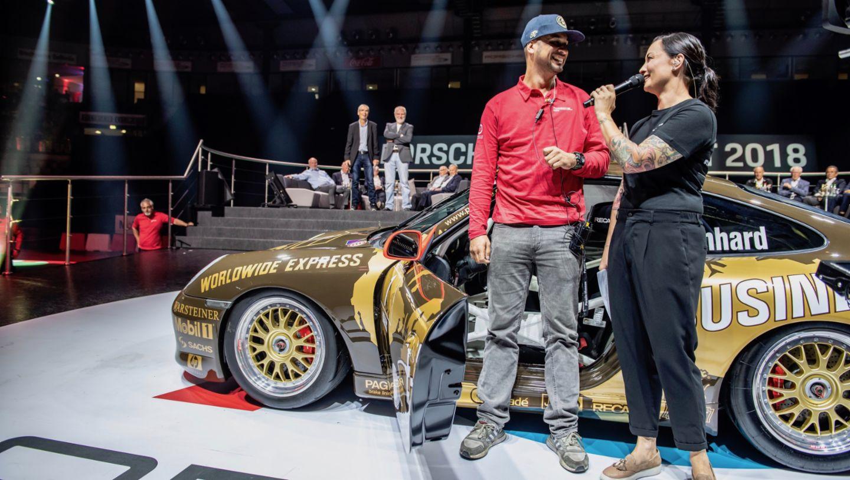 JP Performance, Лина ван де Марс (слева направо), Porsche 911 (996) Cup, восьмая ночь звуков Porsche Sound Nacht, Porsche Arena, 2018, Porsche AG