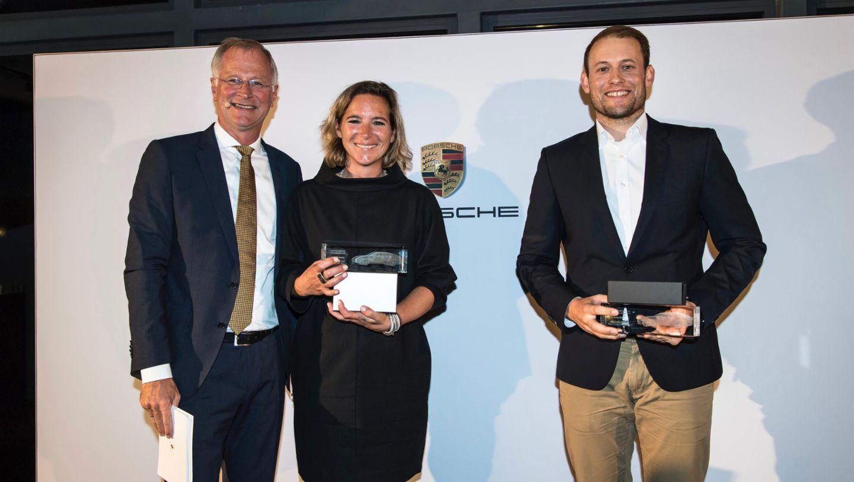 Dr. Jens Puttfarcken, Porsche AG, Katja Eckert, Gunar Petersen, l-r, Porsche Cup Deutschlandfinale, 2017, Porsche AG