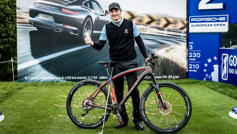 Lasse Jensen, Golfer, Porsche Bike RX, Porsche European Open, Bad Griesbach, 2015, Porsche AG