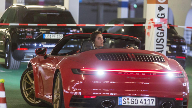 911 Carrera 4S Cabriolet, Andrea Petkovic, Porsche Tennis Grand Prix, Parking Challenge, 2019, Porsche AG