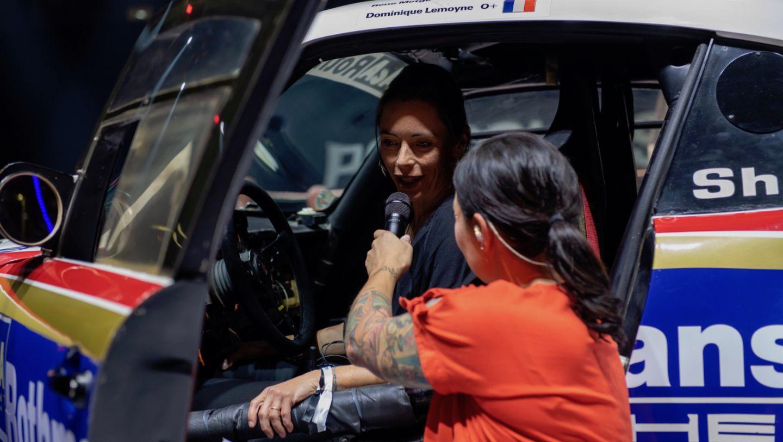 Ванина Икс, Лина ван де Марс (слева направо), Porsche 959 Paris Dakar, восьмая ночь звуков Porsche Sound Nacht, Porsche Arena, 2018, Porsche AG