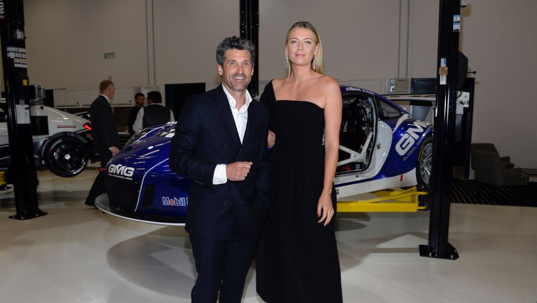 Patrick Dempsey, Maria Sharapova, brand ambassador, l-r, Porsche Experience Center, Los Angeles, 2016, Posche AG